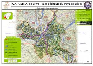 Carte territoire AAPPMA_Brive Pêcheurs du pays de Brive