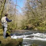 Pêche à la mouche aux cascades de Laguenou