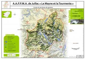 Carte territoire AAPPMA_Juillac