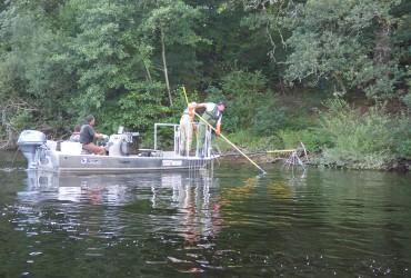 Pêches électrique en bateau