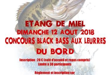 Concours pêche du black bass à Miel