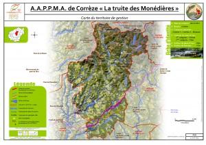Carte territoire AAPPMA_Corrèze-SaintYrieix le déjalat