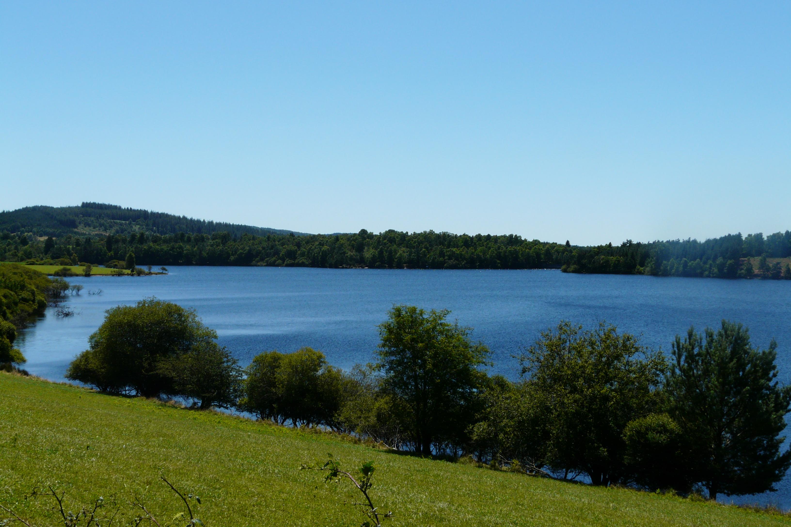 Paysage du barrage du Chammet