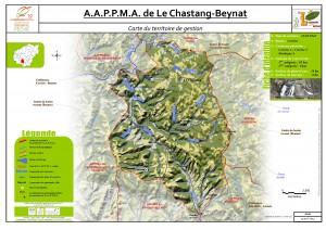 Carte territoire AAPPMA_Le Chastang-Beynat