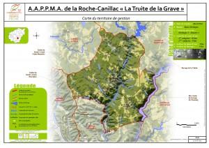 Carte territoire AAPPMA_la Roche-Canillac