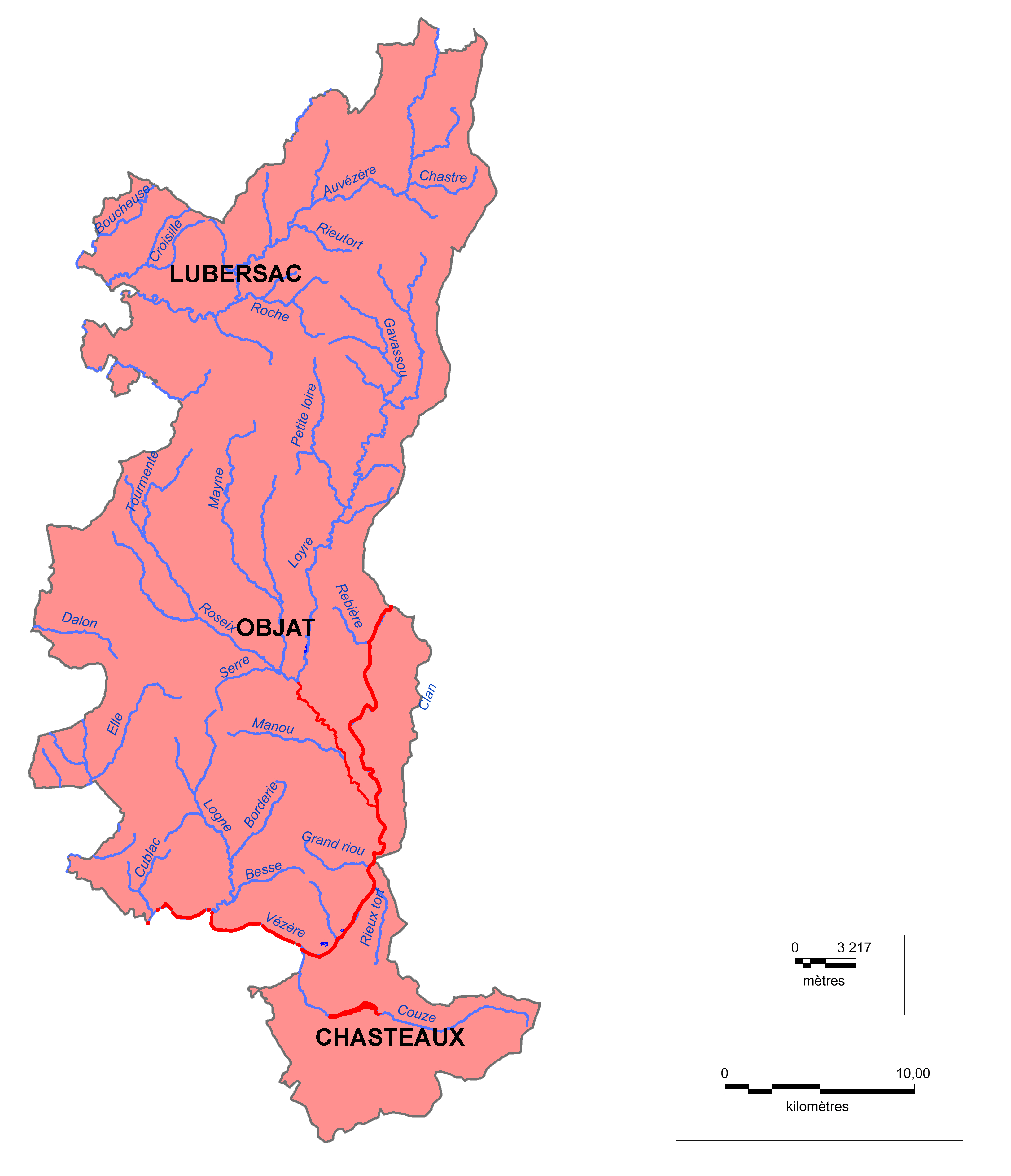 Carte-Bassin-Basse-Vézère-Auvézère
