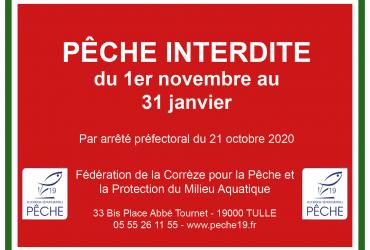 Arrêté préfectoral interdisant temporairement la pêche sur le plan d'eau du Causse